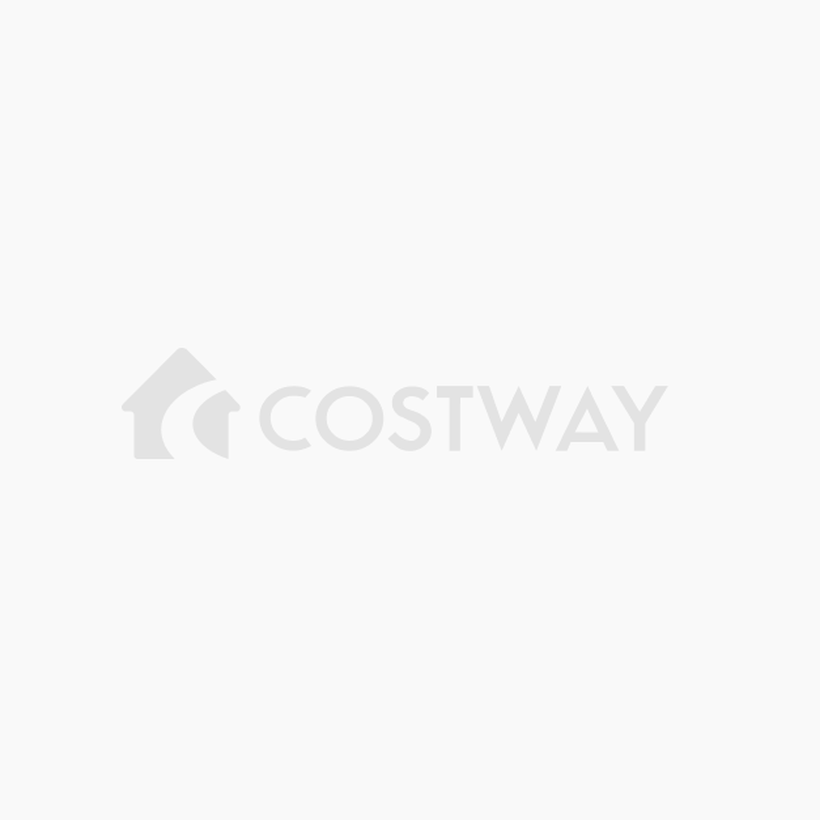 Costway Scaffale con 3 ripiani bianco in legno Mensole mobile ad ...